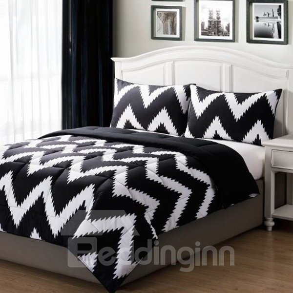 INOpets.com Anything for Pets Parents & Their Pets Modern Fashion Black White Stripe Style Bed in a Bag