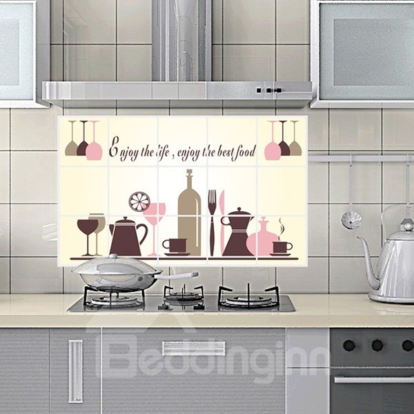 INOpets.com Anything for Pets Parents & Their Pets Creative Kitchen Cooking Utensil Removable Wall Sticker