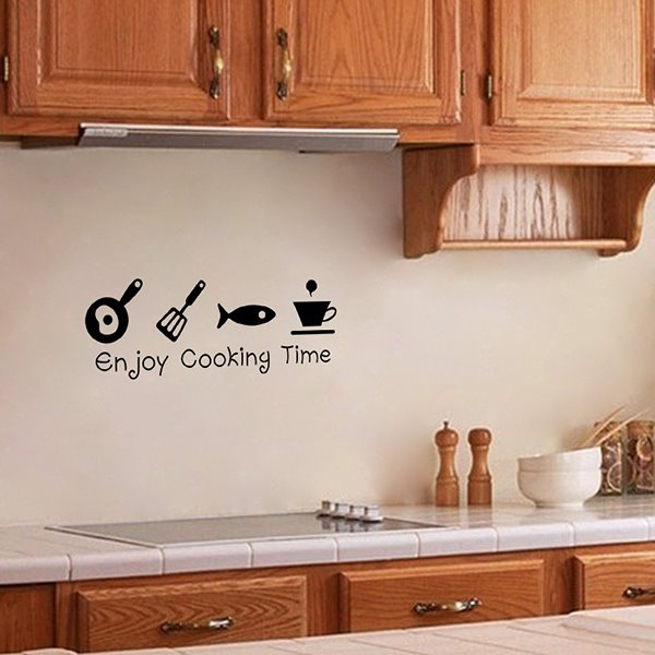 INOpets.com Anything for Pets Parents & Their Pets Enjoy Cooking Time Kitchen Removable Wall Sticker