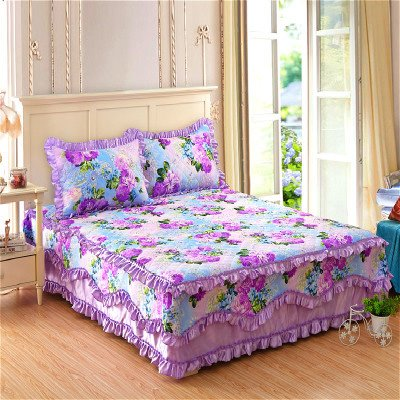 INOpets.com Anything for Pets Parents & Their Pets Flowers Design Princess Style Cotton Bed Skirt