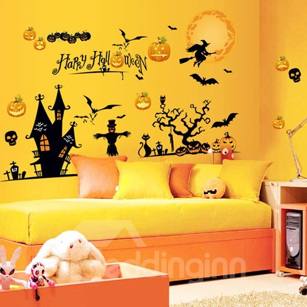 halloween festival decoration party night removable wall 11470 | 11470590 2