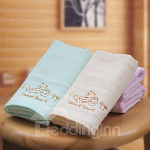 Cute Little Bear Design Children Cotton Towel