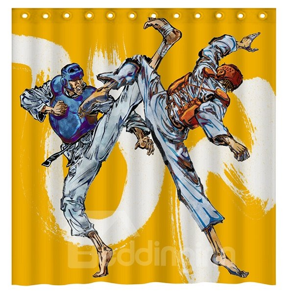 INOpets.com Anything for Pets Parents & Their Pets Modern Sports Boxing Men 3D Shower Curtain