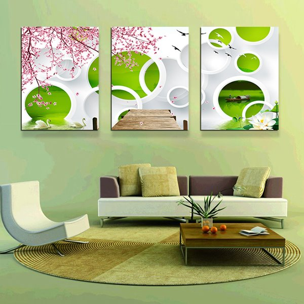 INOpets.com Anything for Pets Parents & Their Pets Modern Abstract Art 3-Panel Canvas Wall Art Prints