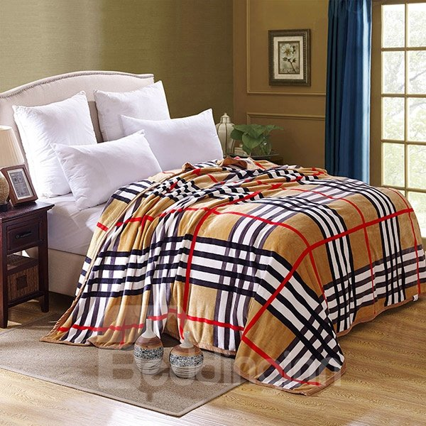 INOpets.com Anything for Pets Parents & Their Pets Classic Stripes and Plaid Design Bed Blanket