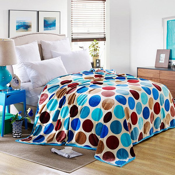 INOpets.com Anything for Pets Parents & Their Pets Lovely Colorful Polka Dots Printed Bed Blanket