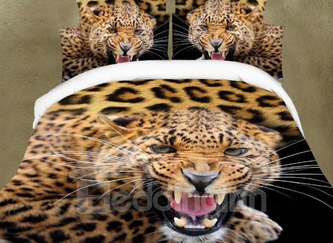 Amazing Vivid Leopard Design 4-Piece Bedding Sets