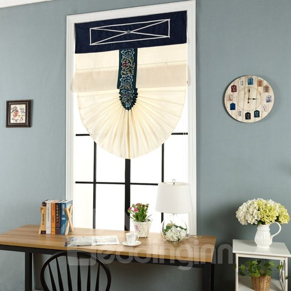 INOpets.com Anything for Pets Parents & Their Pets Modern Mediterranean Thicken Semi-Blackout Home Decor Roman Shades