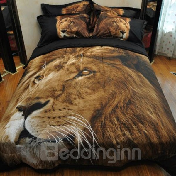 INOpets.com Anything for Pets Parents & Their Pets Imperial 3D Lion Printed Bed in a Bag