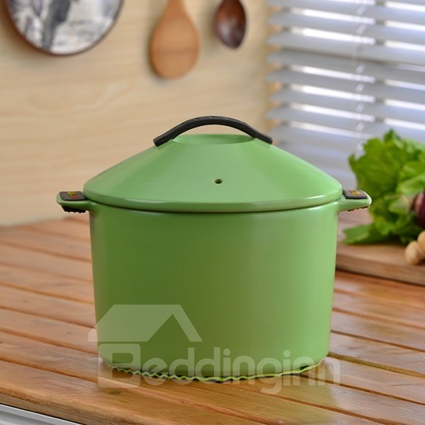 INOpets.com Anything for Pets Parents & Their Pets Wonderful Simple Style Ceramic Cookware Heat-resisting 2.8L Stockpot