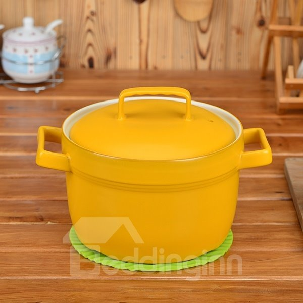 INOpets.com Anything for Pets Parents & Their Pets Multicolor Ceramic Cookware With Lid Handmade Heat-resisting 5.8L Stockpot
