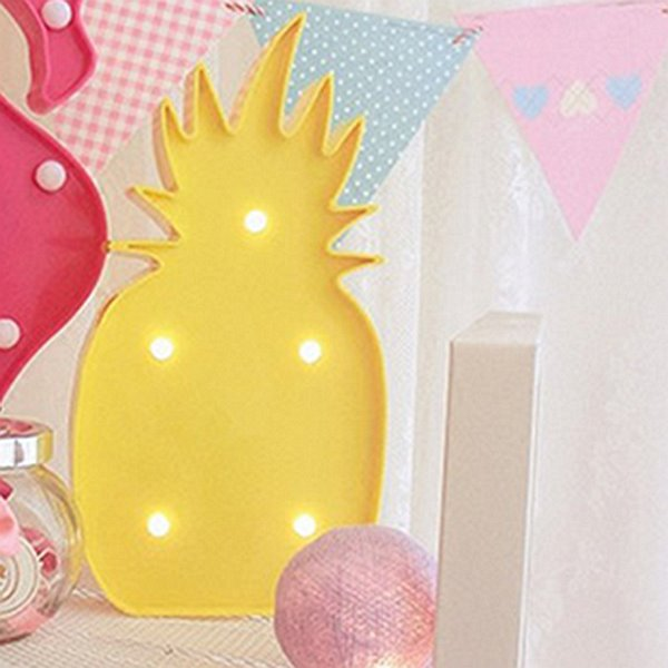 INOpets.com Anything for Pets Parents & Their Pets Cute Home Decor Pineapple Design LED Lamp