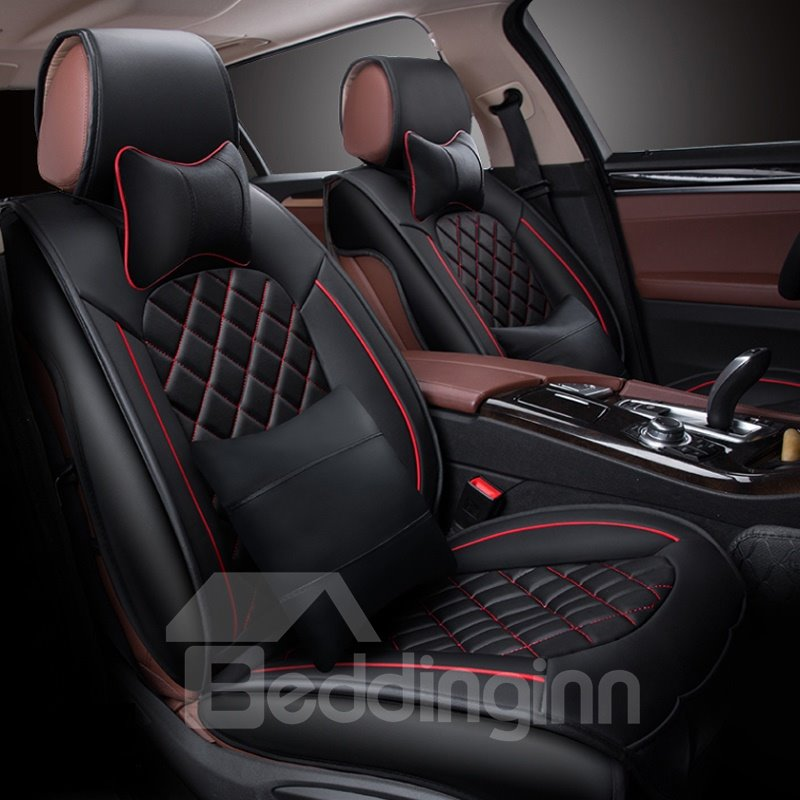 Luxurious Business Styled Diamond Pattern Design Universal Car Seat Cover