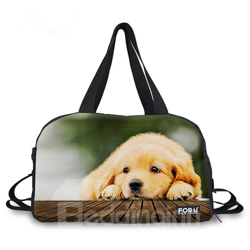 Adorable Puppy Pattern 3D Painted Travel Bag