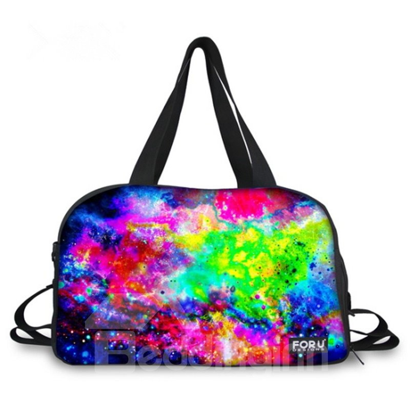 Colorful Galaxy Pattern 3D Painted Travel Bag