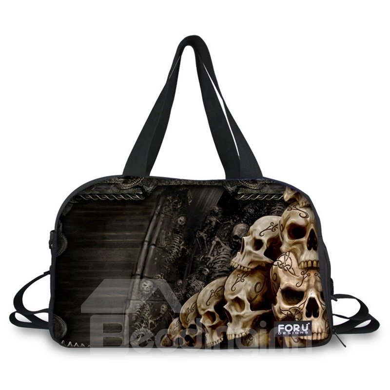 INOpets.com Anything for Pets Parents & Their Pets Unique Skulls Pattern 3D Painted Travel Bag
