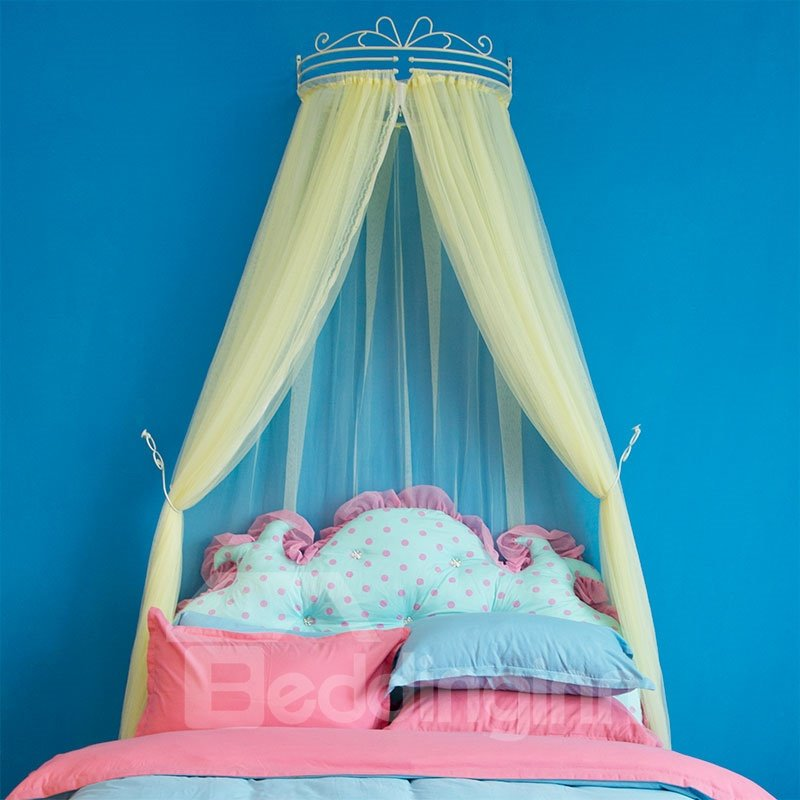 INOpets.com Anything for Pets Parents & Their Pets Bright Yellow Princess Style Lace Bed Canopy