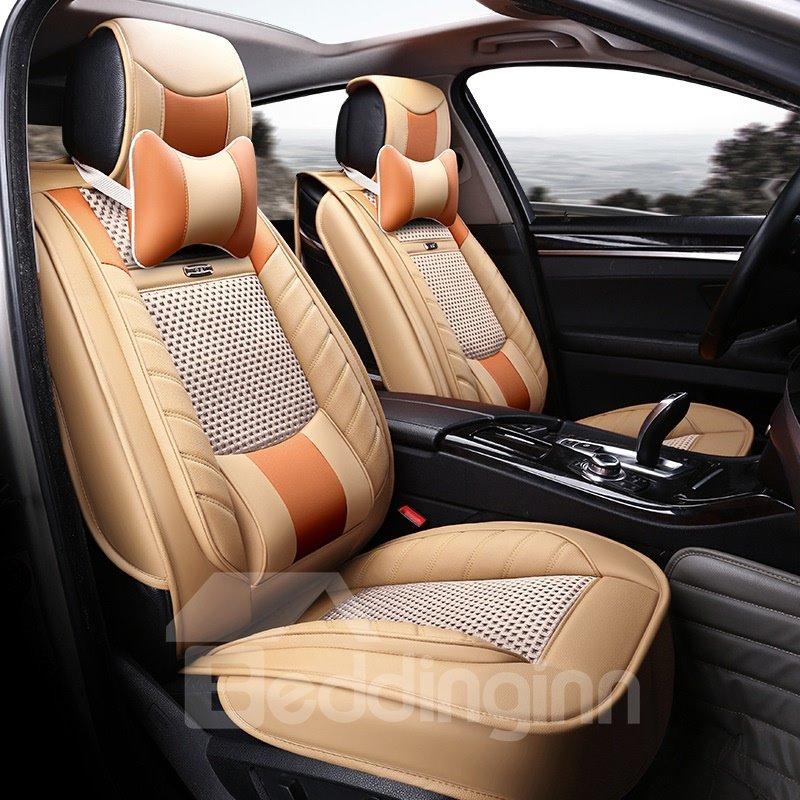 Ventilating Design Business Style Leather Universal Car Seat Cover