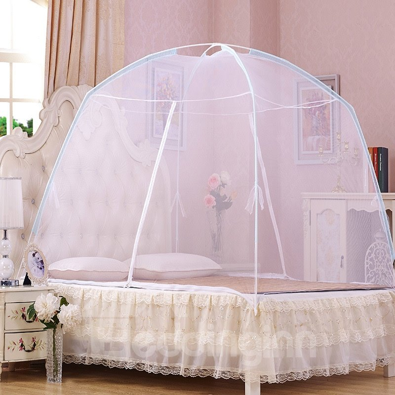 INOpets.com Anything for Pets Parents & Their Pets Folding Polyester with Dome Simple Mongolian Yurt Bed Net