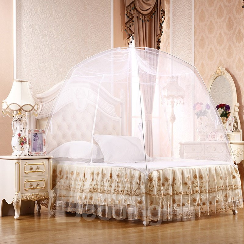 INOpets.com Anything for Pets Parents & Their Pets Folding Polyester Mongolian Yurt Bed Net