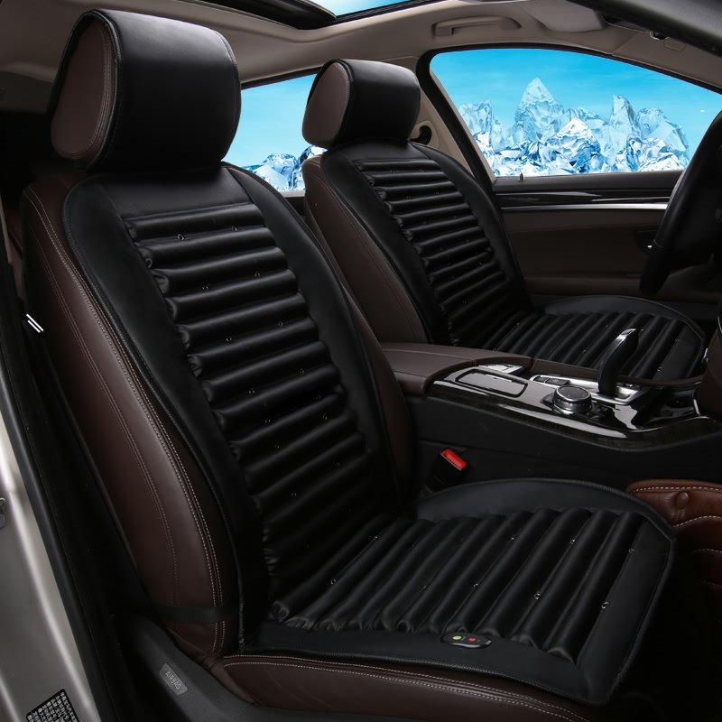 Business Patterns With Air Cooling System Single Heated Seat Cover
