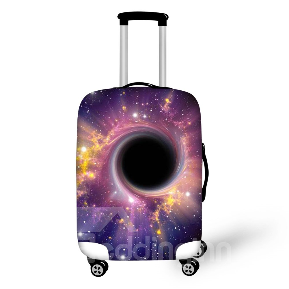 Vortex Galaxy Purple Science Fiction Waterproof Travel Outdoor 3D Luggage Covers