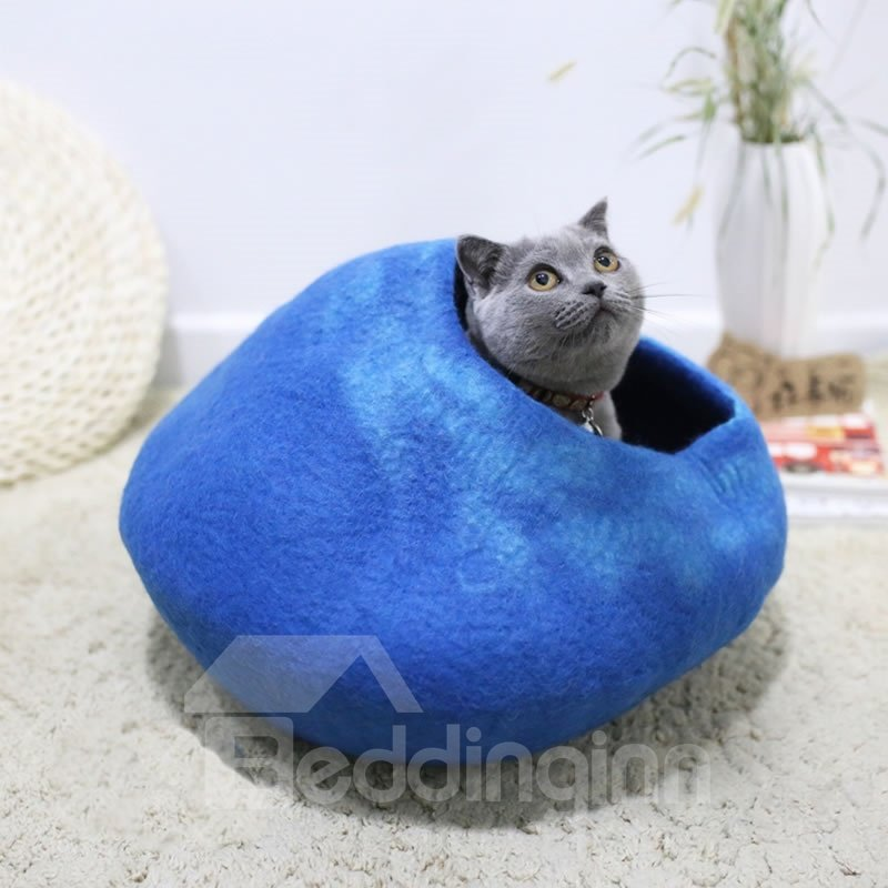 INOpets.com Anything for Pets Parents & Their Pets Handmade Handcrafted Wool Cat House Bed Cave