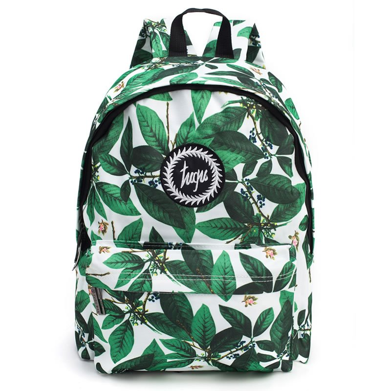 INOpets.com Anything for Pets Parents & Their Pets Tropical Leaves Pattern School Travel Shoulder Backpack