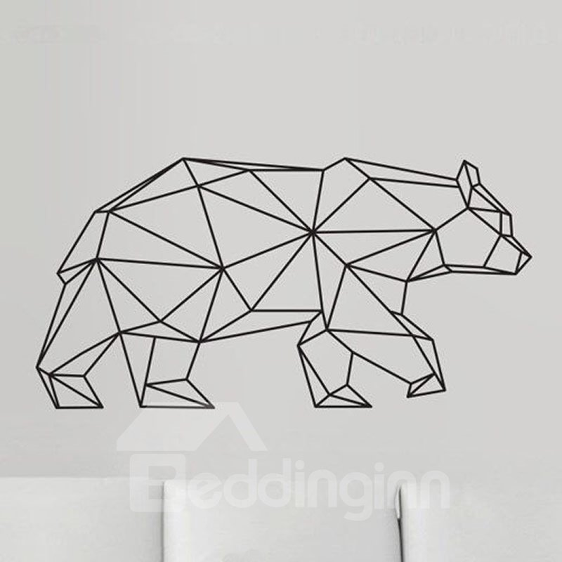 INOpets.com Anything for Pets Parents & Their Pets Geometric Bear Wall Sticker Modern Home Decor Vinyl Wall Art