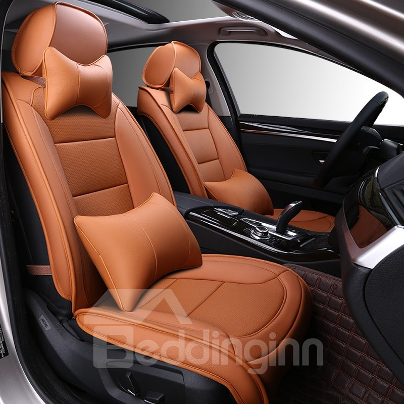 Business Style Solid Color Luxury Soft Custom Car Seat Covers