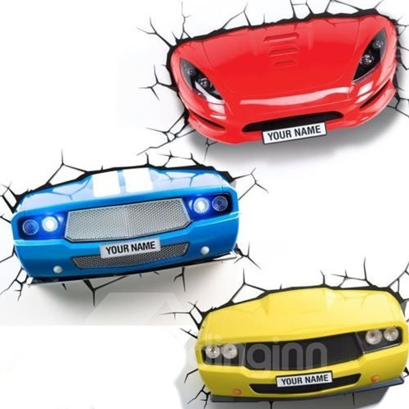 INOpets.com Anything for Pets Parents & Their Pets Blue Yellow Sports Wall Sticker Home Decor Car Light