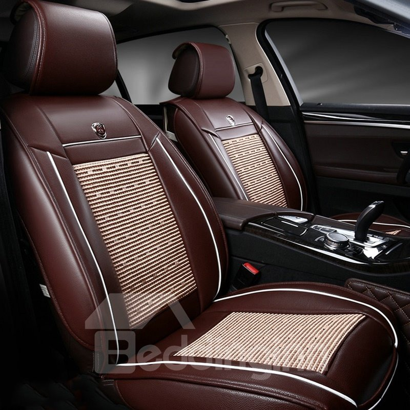 Smooth Leather Business Style Single-seat Universal Car Seat Covers